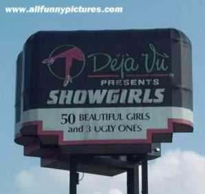 Deja Vu Presents SHOWGIRLS - 50 BEAUTIFUL GIRLS and 3 UGLY ONES