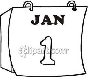 clipart picture of a calendar turned to january 1st rh clipartguide com clip art january 2016 clip art january snow