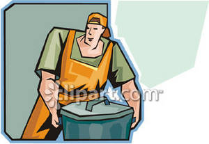 Clipart Picture Of A Garbage Collector