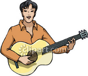clipart picture of an ethnic man player a guitar rh clipartguide com guitar player silhouette clipart guitar player cartoon clipart