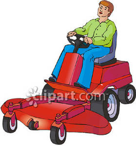 clipart picture of a man on a riding lawnmower rh clipartguide com