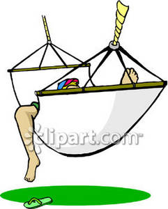 Clipart Picture Of A Guy Taking Nap In Hammock