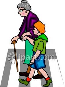 Boy Helping an Old Lady Across the Street Clipart Picture on golf putting cartoon, golf club coloring pages, golf clubs woods set, golf fancy dress, funny old lady cartoons,
