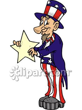 cartoon uncle sam holding a star royalty free clipart picture rh clipartguide com Flamingo Clip Art Character Parade Clip Art