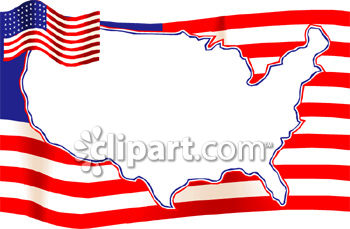 United States Map Flag