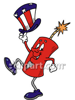 a dancing firecracker with a top hat royalty free clipart picture rh clipartguide com animated firecracker clipart firecracker clip art images