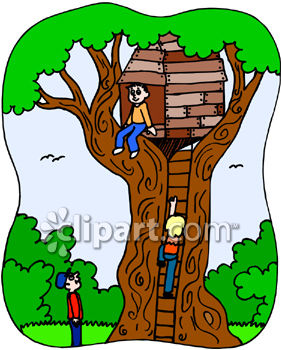 kids playing in a tree house royalty free clipart picture rh clipartguide com tree house clipart images tree house clip art free