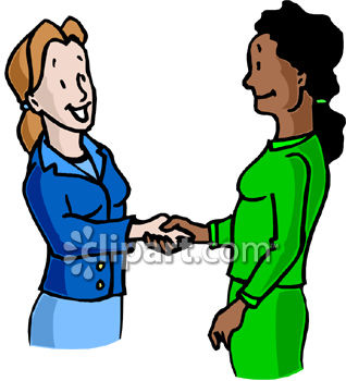 Two Business Women Shaking Hands