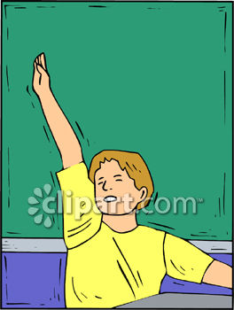 Boy Raising His Hand in School