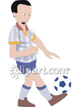 Soccer Player Balancing a Soccer Ball on One Foot