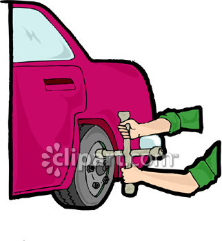 Clipart Picture Of A Person Changing A Tire