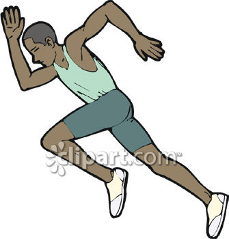 Sprinter running a race