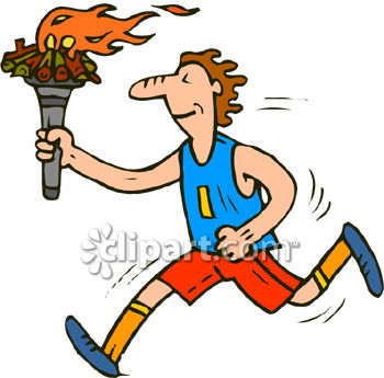 a runner holding the olympic torch royalty free clipart picture rh clipartguide com clip art of running heron in tennis shoes clip art of running egg