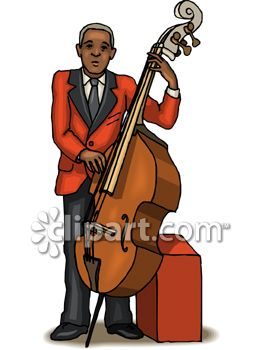 Black Man Playing an Upright Bass