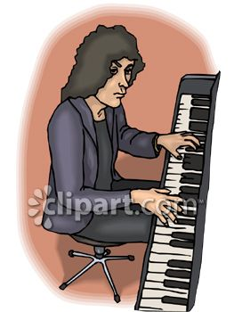 Long Haired Rock Keyboardist