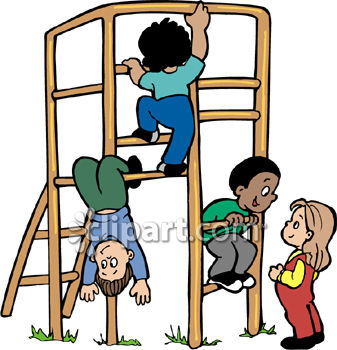 boys and girls playing on a jungle gym at the playground royalty rh clipartguide com playground clip art images playground clipart black and white