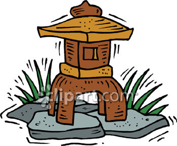 Little Asian Style House for Decorating a Garden