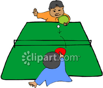 Two Little Boys Playing Ping Pong