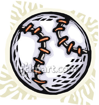 Softball or Baseball Royalty Free Clipart Image