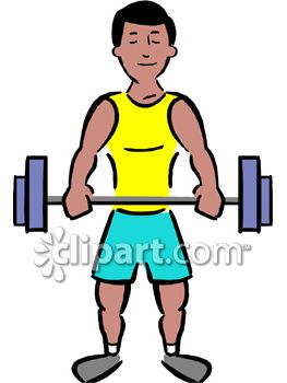 muscular man lifting weights royalty free clip art illustration rh clipartguide com