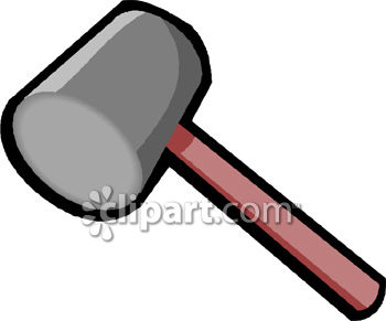 Royalty Free Clipart Image: Hammer-Rubber Mallet