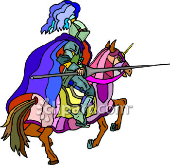 Knight On a Horse with a Jousting Lance - Royalty Free Clip Art ...