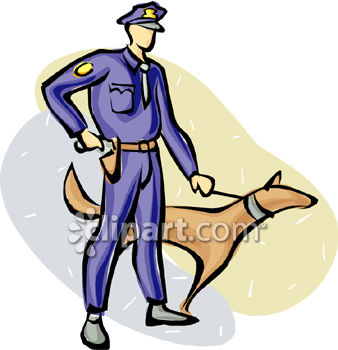 royalty free clip art image police officer with a police dog rh clipartguide com police station building clipart police station clipart free