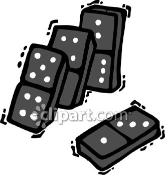 Dominoes falling - Royalty Free Clip Art Illustration