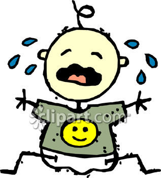 Vector Illustration Of Cartoon Baby Crying Royalty Free Cliparts, Vectors,  And Stock Illustration. Image 66380169.