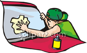 Cleaning Supplies Clip Art of Window – Clipart Download