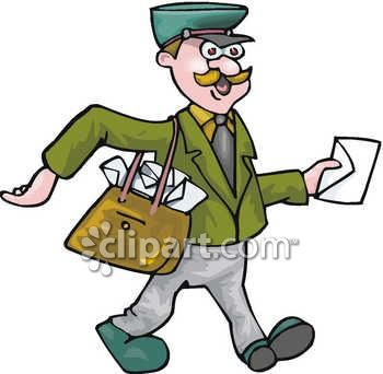 mailman delivering the mail royalty free clip art illustration rh clipartguide com christmas mailman clipart christmas mailman clipart