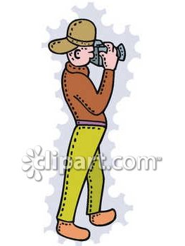 Photographer Taking a Picture Clip Art