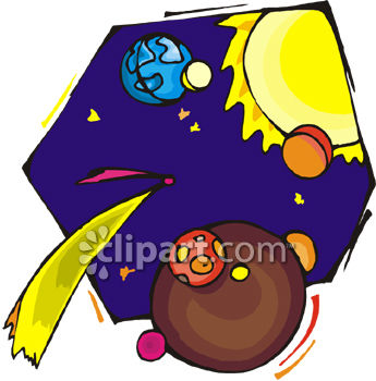 The Sun, Moon and Earth Clip Art Royalty Free Clipart Image