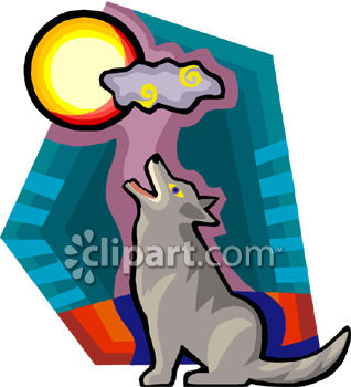 0060 0808 0215 4132 Lone Wolf Howling at the Moon clipart image Real amateur men submitted their photos and videos to us – join Men Bucket ...