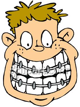 Kid With Braces Clip Art