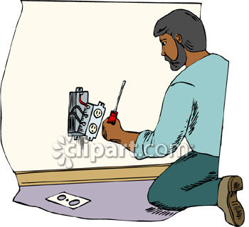 Electrician Installing Or Repairing A Wall Socket