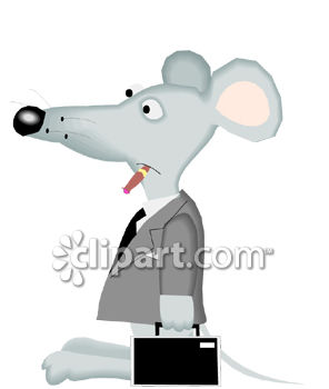 Cartoon of a Mouse Businessman