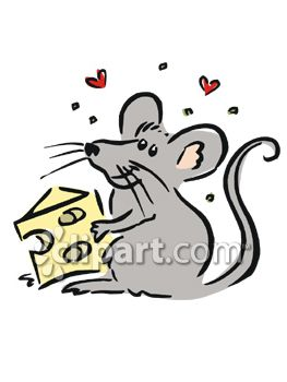 Cheese and Mouse Clip Art