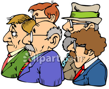 Group of Businessmen Clip Art
