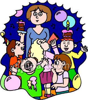 Kids Birthday Party Clip Art