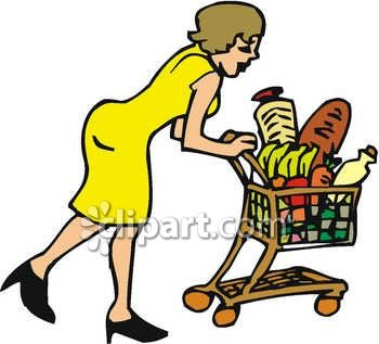 woman grocery shopping pushing a shopping cart clip art royalty rh clipartguide com grocery clip art free grocery clip art free