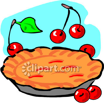"This ""cherry pie clipart image"" clip art image is available as part"