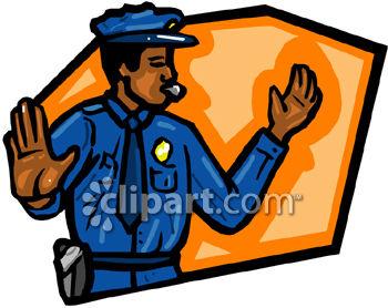 Policeman Directing Traffic Clip Art