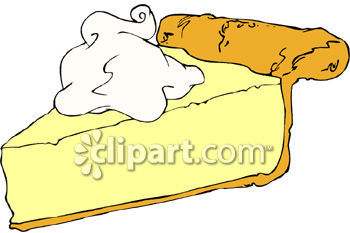 A Slice of Lemon Cream Pie with Whipped Cream Dollop