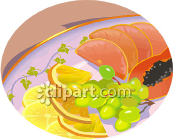 Plate of Sliced Fresh Fruits