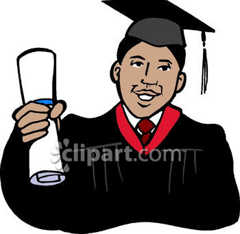 African American Graduate Clip Art Royalty Free Clipart Image