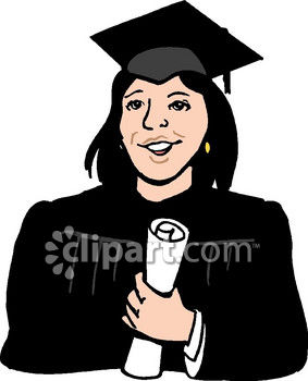 Woman College Graduate Clip Art