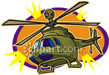 Army Helicopter - Royalty Free Clip Art Picture