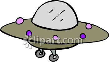 Cute Little Space Ship - Royalty Free Clipart Picture