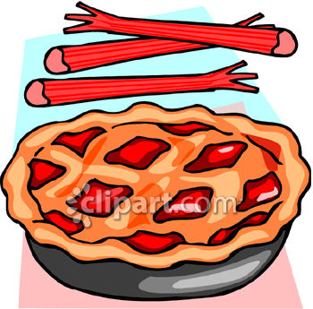 Rhubarb Pie with Fresh Rhubarb Royalty Free Clipart Image